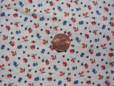 Vintage 1960s Cute Pink Rose Buds and Blue Flowers by tessimal, $4.50