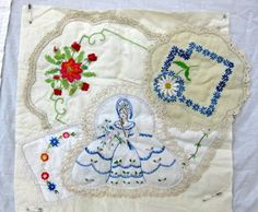 As promised to Shirley.... here's a little peek at quilting friend Laura's Vintage Doily quilt.... Exquisite vintage doilies set into b...