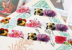 10m Cute Washi Tape  Animals with Big Eyes and por WILDSOUL19