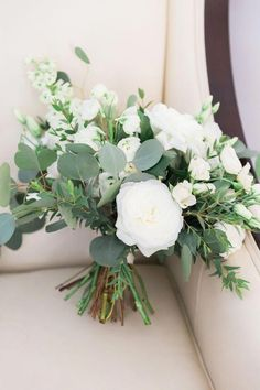 Botanical wedding garden wedding floral bouquet white roses and eucalyptus form the most soft and gorgeous botanic bouquets pice matresse de mariage rusticcountryweddingstyle White Roses Wedding, Rose Wedding Bouquet, White Wedding Bouquets, Bridal Flowers, Floral Bouquets, March Wedding Flowers, Boquette Flowers, Flowers Garden, Wedding Greenery