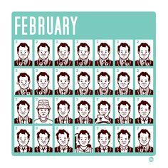 February - Groundhog Day Calendar Graphic Design