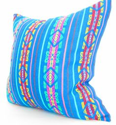Aztec cushion, Tribal Pillows Covers, Colorful Pillow Covers, Bohemian Decor, Boho Bedding, Teal blue Pillow Cover 18x18 or 12 x 22 Inch. $30.00, via Etsy.