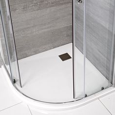 Add a chic spa-style touch to your bathroom with the Milano white slate effect quadrant shower tray Bathroom Shop, Big Bathrooms, Modern Bathroom, Quadrant Shower, Bathroom Inspiration, Bathroom Ideas, Shower Enclosure, Slate, Tray