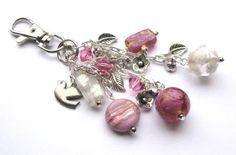 "** ""Pretty In Pink"" Interchangeable  Beaded Clip On Pendant Dangle  Charm @spoiltrottenbeads"
