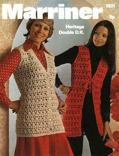 Vintage Ladies Sleeveless Jacket Crochet Pattern by LittleJohn2003, $3.00