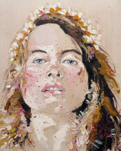 WEDDING // oil on wood panel by Judith  Geher via judithgeher.com