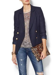 LAVEER Kadette Blazer | Piperlime #women #fashion love the blazer + top combo