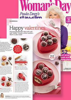 I LOVE Bakeralla!  Check out her V-Day edible candy heart box in Womans Day by Bakerella, via Flickr