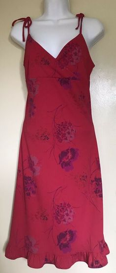 787923d3 VINTAGE - Express World Brand Floral Red Dress Women's Size 5/6 Spaghetti  Strap #Express #Sundress #Casual