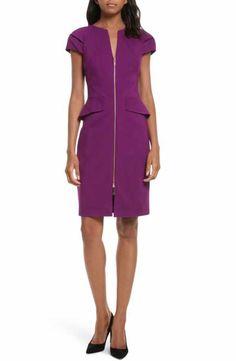 Ted Baker London Fidelle Structured Peplum Dress