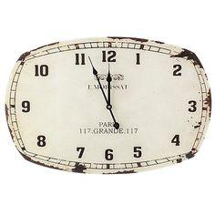 Romantische #Uhr in #Weiß von #Dekoria. Diese Uhr ist im angesagten #Shabby #Chic #Style gehalten. ♥ ab 49,90 €