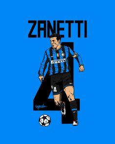 Javier Zanetti of Inter Milan wallpaper. Football Icon, World Football, Football Soccer, Football Players, Football Tattoo, Soccer Art, Soccer Poster, Soccer News, Eric Cantona