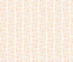 chevron feather in peach on white fabric by weavingmajor on Spoonflower - custom fabric