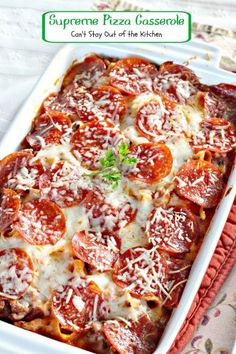 Supreme Pizza Casserole | Can't Stay Out of the Kitchen | fabulous