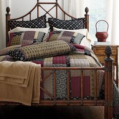 Deep and earthy quilts and shams