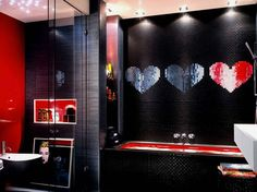 I'm thinking I really want to make the bathroom and kitchen rock/glam