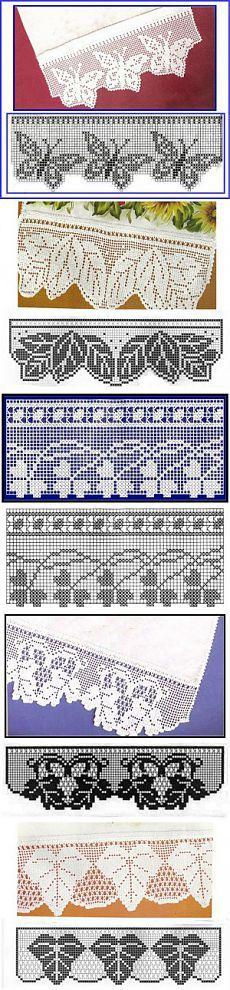 Кайма крючком.Филейное вязание. Очень красиво. + схемы. (часть 1) | razpetelka.ru