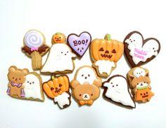ハロウィンアイシングクッキー の画像|❁ なつきのアイシングクッキーのブログ ❁ Kawaii Halloween, Halloween Baking, Halloween Cupcakes, Halloween Treats, Biscuit Cookies, Sugar Cookies, Sugar Craft, Cute Food, Strawberry Shortcake