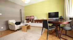 Furnished studio  Florissant's area. Nearby all utilities as public transport and shops.  This studio includes: an entrance hall - a living room (living-bedroom) open on a pleasant balcony - a fully e