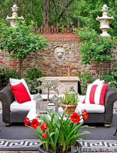 Garden With Color and Flair | Traditional Home