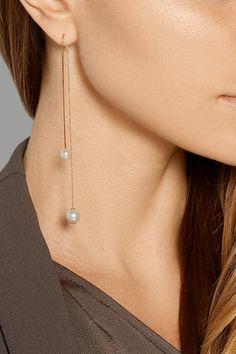 DELFINA DELETTREZ Fishing For Compliments 18-karat gold pearl earring