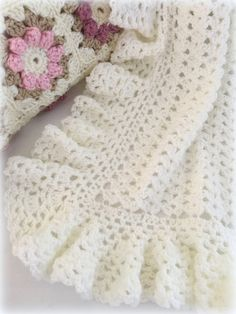 Crochet Baby Blanket Pattern Baby Blanket by DeborahOLearyPattern