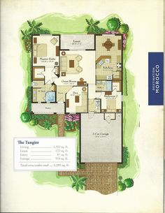 The Destination Morocco Series Tangier Floor Plan in Solivita, Kissimmee FL