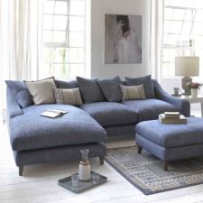 Online retailer Loaf has just launched a range of chaise and corner sofas, ideal for those who like to put their feet up.   This Oscar sofa chaise in Herringbone Shaker Blue has a solid beech f rame w ith feather-wrapped foam seat and feather filled back cushions. More than 60 fabrics are available as well as a bespoke   upholstery service.   www.loaf.com, 0845 459 9937