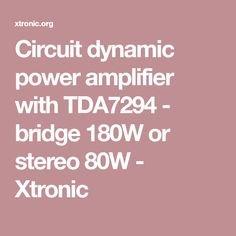 Circuit Power audio Amplifier with TDA2030 2.1 Channel- 3 ...