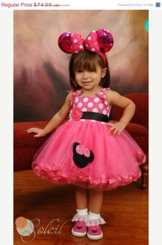 Sale Pink Minnie Mouse Dress Baby Toddler Tutu by SCbydesign, $69.99