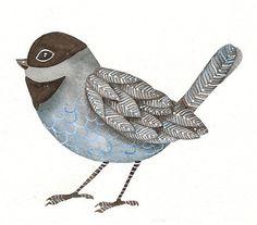 Watercolor Original Painted Art Bird by Lorisworld by lorisworld, $25.00
