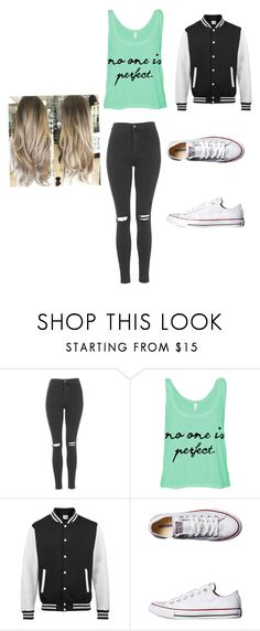 """""""Last bonfire before school"""" by tonyasmith419 ❤ liked on Polyvore featuring Topshop and Converse"""