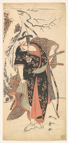 The Second Nakamura Juzo as a Samurai of High Rank  Katsukawa Shunshō  (Japanese, 1726–1792)
