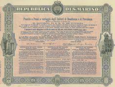 REPUBBLICA DI S. MARINO - #scripomarket #scriposigns #scripofilia #scripophily #finanza #finance #collezionismo #collectibles #arte #art #scripoart #scripoarte #borsa #stock #azioni #bonds #obbligazioni