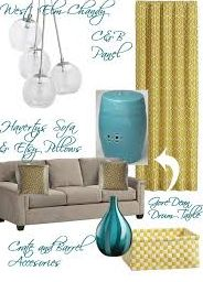 Grey, Turquoise, and Yellow