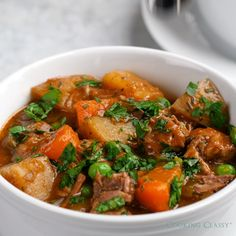 Is there a dish more comforting than this BEEF STEW?? It's absolutely perfect for cold fall and winter days.