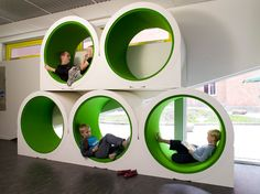 5: Reading Tubes for Quiet and Contemplation | A 21st Century School on the Cutting Edge of Learning [Slideshow] | Co.Design: business + innovation + design
