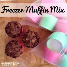 Last night I posted my Freezer Biscuit Dough Balls and thought Id continue with that theme tonight.  I often make a batch of muffin mix and fre