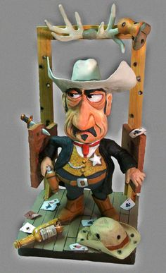 """Sheriff"", paper mache"