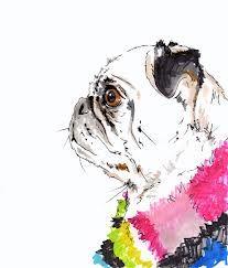 pug illustration etsy - Google Search
