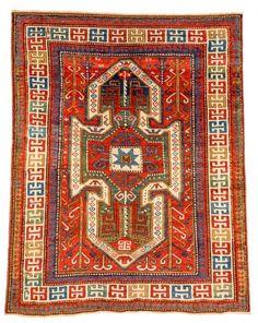 Lot 74. Sewan Kazak, Caucasus ca. 1870, 7ft. x 5ft. 6in. Estimate: € 3000 – 4000