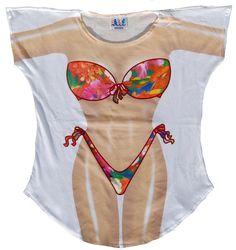 aaf46d28e5a53 Fantasy Coverup Tropical. Floral SwimsuitSwimsuit CoverBikini Cover  UpBikini SwimwearSexy BikiniSwimsuitsBikinisBeach CoversBeach T Shirts