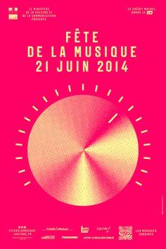 Cartell de l'edició francesa de la Festa de la Música (21 de juny de 2014)