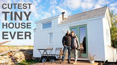 Pascal and Catherine built their first tiny house in just 40 days and are currently living in it as their second home. They're a couple from Kamouraska, Canada, that started a tiny house building company called &q Interior Design And Build, Beautiful Interior Design, Beautiful Interiors, Interior Decorating, Off The Grid, Tiny Houses Canada, Tiny Wood Stove, Building Companies, Tiny House Movement