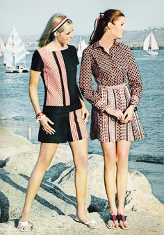 """March 1968. """"Snapping it up here, in the Marina del Ray Boating Community at Venice, signal colors with a seaside message."""""""