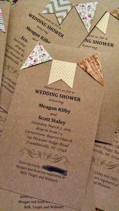 I love making invitations!! Cheap and so cute!!