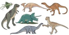 Dinosaurs Free Vector Image