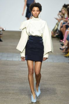 Love the skirt! Leave the blouse. Topshop Unique Spring 2017 Ready-to-Wear collection.