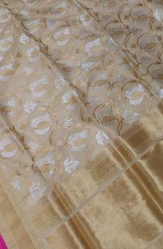 Pastel Handloom Banarasi Katan Silk Saree