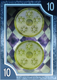 Persona 3/4 Tarot Card Deck HR - Suit of Coins 10 by Enetirnel